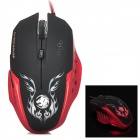 X-LSWAB X-L8 USB 2.0 Wired 800 / 1200 / 2000dpi Optical Gaming Mouse - Black + Red (150cm-Cable)