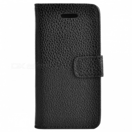 Protective PU Leather Case for IPHONE 5C - Black