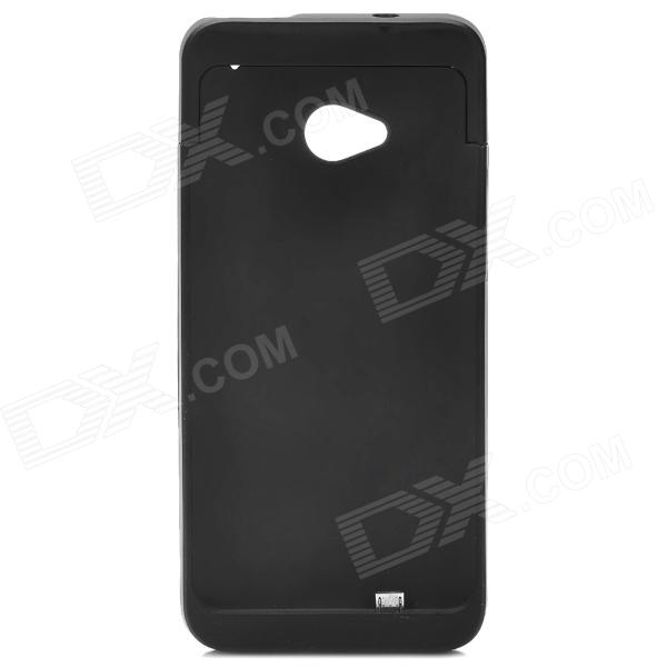 3200mAh Backup Battery Case w/ Holder for HTC One / M7 / 801E - Black 3200mah backup battery case w holder for htc one m7 801e black