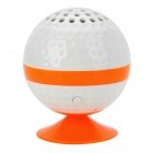 KHF301 Mini Golf Ball Form Bluetooth V3.0 Musik-Lautsprecher - Orange + Weiß