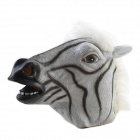 Halloween Zebra Mask - White + Black