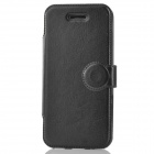 Protective Flip-open PU Leather Holder Case for Iphone 5C - Black