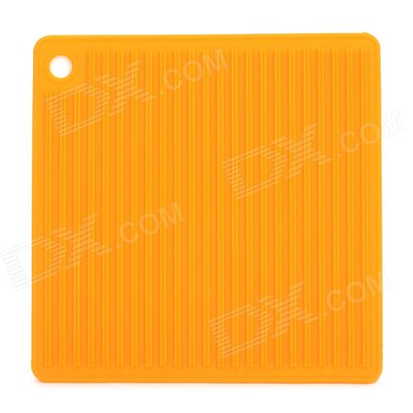 Square Shaped Silicone Anti-slip Insulation Mat / Pad - Orange пуловер quelle ashley brooke by heine 141510