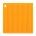 Square Shaped Silicone Anti-slip Insulation Mat / Pad - Orange