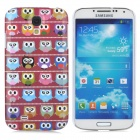 Owl Pattern Protective Plastic Hard Back Case for Samsung Galaxy S4 i9500 - Multicolored