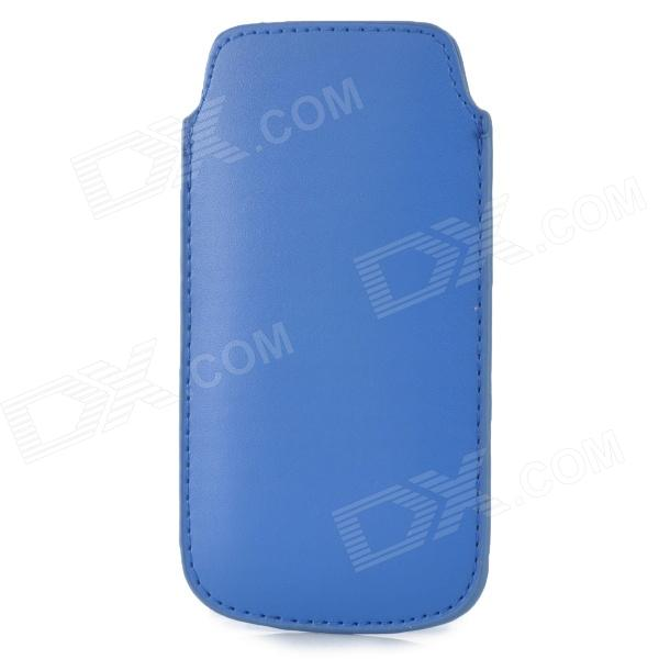 Protective PU Leather Case for Samsung i9190 Galaxy S4 Mini - Blue