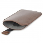 Protective PU Leather Case Punch Bag for Samsung Galaxy Note 3 N9000 - Brown