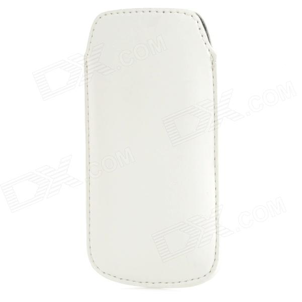 Protective PU Leather Case for Samsung i9190 Galaxy S4 Mini - White
