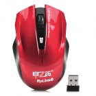 Jiayibing M1 Wireless 2.4G 800 / 1200 / 1600dpi Optical Mouse - Red + Black (1 x AA)