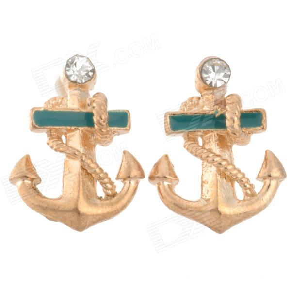 Fashion Anchor Style Gold Plating Alloy Earbud - Golden