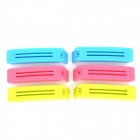 Bag Seal Clips - Blue + Deep Pink + Yellow Green (6 PCS)