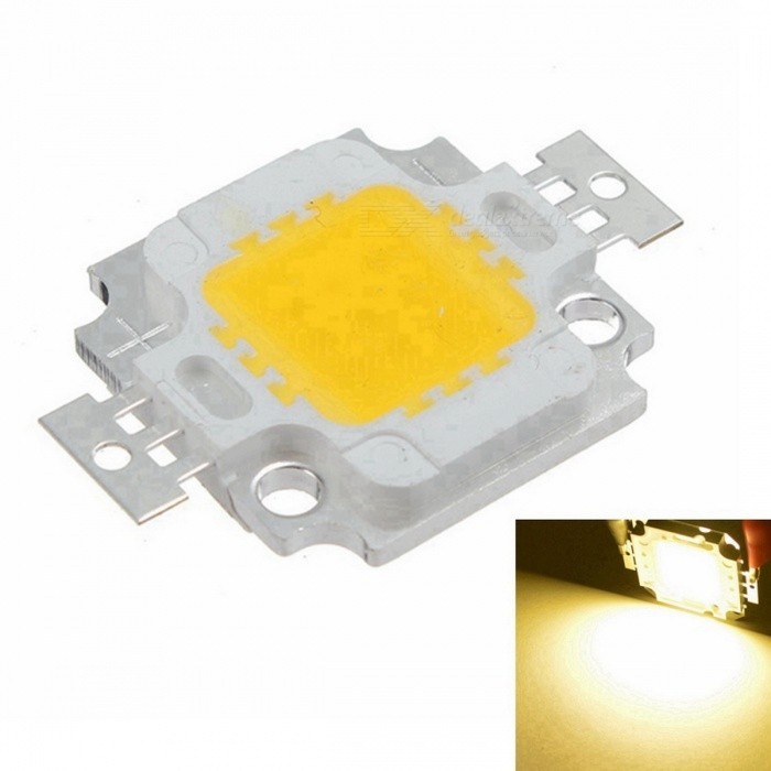 SENCART 10W 900lm 3500K COB LED Warm White Light Source (9~12V)Leds<br>BrandSENCART ModelCOB 10W MaterialAluminum ColorWhite + silver + yellow Quantity1 Emitter TypeCOB LED Total Emitters1 Power10 WColor BINWarm White Rate Voltage9~12 VLuminous Flux820~900 lmColor Temperature3000~3500 KApplicationRoad lighting, indoor lighting, landscape lighting, industrial lighting, special lighting, back lighting, etc. FeaturesColor rendering index: &gt;/= 70(RA); Current: 900mA Other3 in series and 3 in parallel Packing List1 x Light source<br>