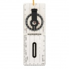 Foldable Navigation Outdoor Camping Baseplate Compass Map Measure Ruler - Transparent + Black