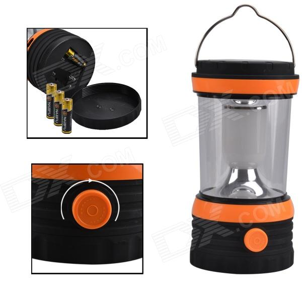 Chandail SF-805A 1-LED 100lm lampe de camping à propulsion solaire - noir + orange + blanc
