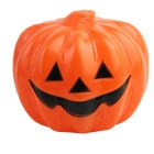 Halloween LED Yellow Light Pumpkin Lamp - Orange + White + Black (Size-L / 3 x AAA)