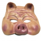 Halloween Pig Mask Belly Set - Beige