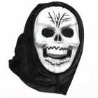 Halloween Cosplay Teufel Mask - White + Black