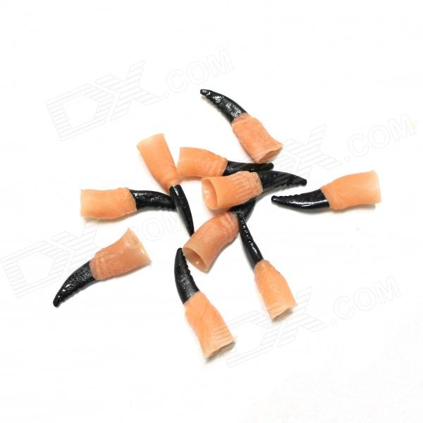 Halloween Terrorist Poison Finger Tips Set - Beige + Black (10 PCS) kure bazaar лак для ногтей so vintage 10ml