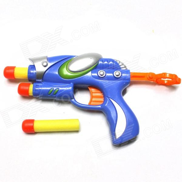 Manual Launch Outdoor Indoor Sponge Ball Gun Toy for Kids w/ 3-Sponge Cartridges - Multicolored цена