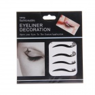 KC-16 Fashionable Pretty Cosmetic Double-Eyelid Stickers - Black (4-Pair)
