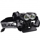 SingFire SF-804B 2 x XM-L T6 1200lm 3-Mode Eagle Eye Mini Bike Light Headlamp w/ Battery - Black