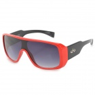 CARSHIRO K3589 Outdoor Sports Motorcycle UV400 Protection Grey Resin Lens Sunglasses - Black + Red