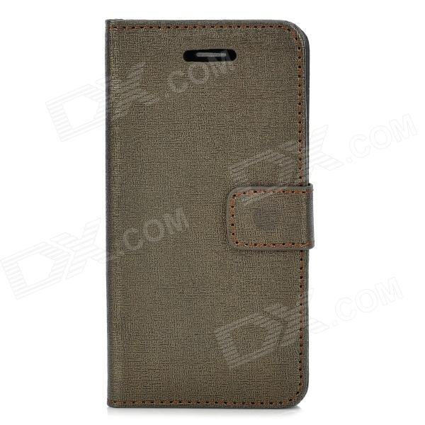Elegant Oracle Lines Style Protective PU Leather Case for Iphone 5C - Brown stylish protective pu leather case for iphone 5c white transparent black
