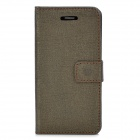 Elegant Oracle Lines Style Protective PU Leather Case for Iphone 5C - Brown