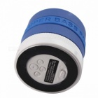 Portable Speaker Supper Bass Bluetooth V2.1+EDR Speaker w/ TF / FM / Microphone - White + Blue