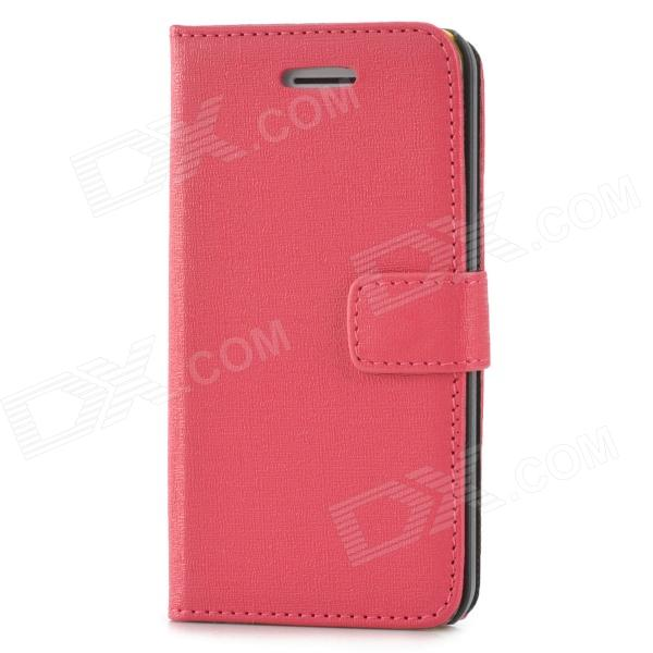 Protective Flip-open PU Leather Case for Iphone 5C - Deep Pink protective flip open pu leather case for iphone 4 4s pink