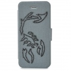 Scorpion Pattern Protective PU Ledertasche für iPhone 5 - Black + Silver Grey