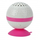 KHF301 Mini Golf Ball Shape Bluetooth V3.0 Music Speaker - Deep Pink + White
