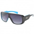 CARSHIRO K3589 Outdoor Sports Motorcycle UV400 Protection Grey Resin Lens Sunglasses - Black + Blue