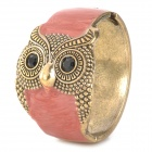 Fashion Owl Style Alloys Plating Wide Bracelet - Red + Golden