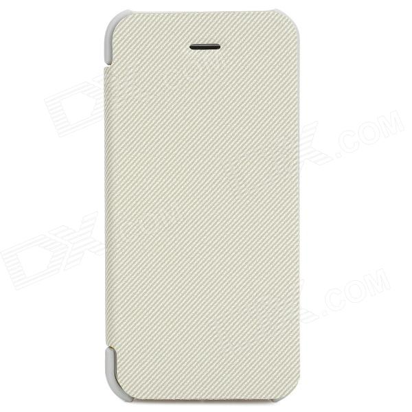 Stylish Flip-open PU Leather Case for Iphone 5C - White stylish pu leather plastic flip open case for iphone 5c green