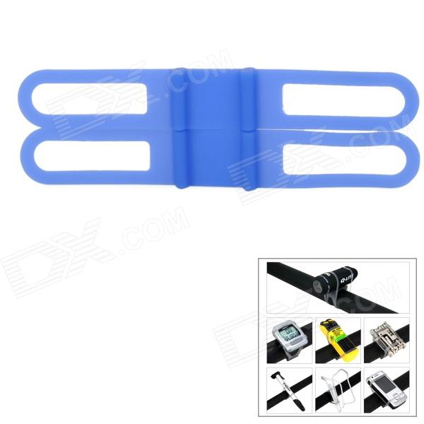 Universal Bicycle Silicone Holding Elastic Strap for Flashlight - Blue