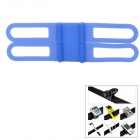 Universal Bicycle Silicone Holding Elastic Strap for Flashlight / Cell Phone - Blue