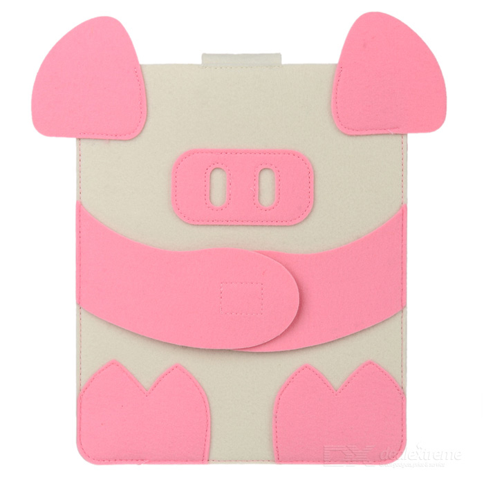 Pinky Pig Style Ultrathin Protective Felt Case for Ipad 2 / 3 / 4