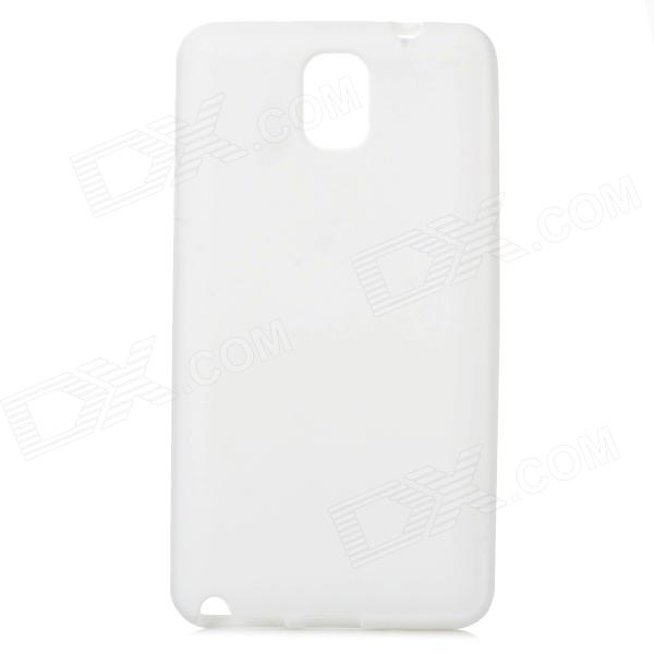 Protective Silicone Soft Back Case for Samsung Galaxy Note 3 N9000 - White