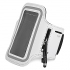 Convenient Sporty Water Resistant Neoprene Arm Bag + Stylus for Iphone 5C - White