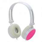 SUOYA E517 Stereo Headphone - White + Deep Pink