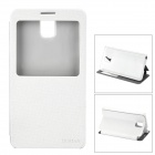 DURIAN Protective PU Leather Case w/ Visual Window for Samsung Note 3 - White