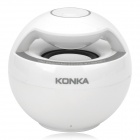 KHF308 Probable Mini Bluetooth V4.0 Subwoofer Speaker w/ Microphone - White + Gray