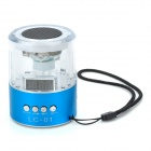 LC-01 Crystal RGB Light Portable Media Player Speaker w/ FM / TF / Mini USB - Transparent + Blue