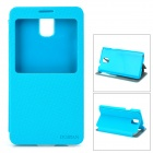 DURIAN Protective PU Leather Case w/ Visual Window for Samsung Note 3 - Blue