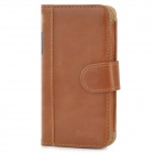 SWISH-smart Book Protective Genuine Leather Case w/ Card Slots for Iphone 5 - Brown