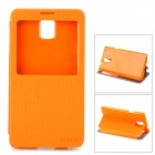 DURIAN Protective PU Leather Case w/ Visual Window for Samsung Note 3 - Orange
