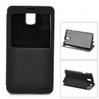 DURIAN Protective PU Leather Case w/ Visual Window for Samsung Note 3 - Black