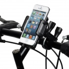 Multifunction Bicycle Plastic Holder for Cell Phone + Tablet PC - Black
