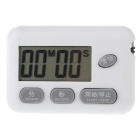 "BK-727 1.6"" LCD Kitchen Digital Timer - White + Gray (1x357A)"